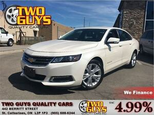 2014 Chevrolet Impala 1LT PEARL WHITE LEATHER & CLOTH INTERIOR B