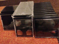 54 Brand New CD Cases Mixture of Single/Double /4/6 10 DVD Cases New Open to Offers and Will Split
