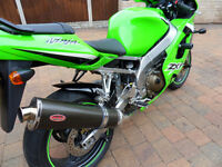 Kawasaki Ninja ZX9R 2003/4 Carbon End Can (Round to oval)