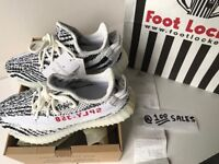 ADIDAS x Kanye West Yeezy Boost 350 V2 ZEBRA White/Black UK5.5 CP9654 FOOTLOCKER RECEIPT 100sales