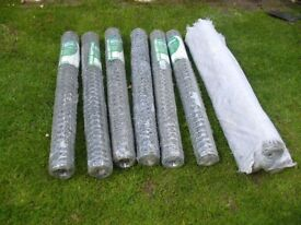 JOB LOT OF ROLLS OF WIRE NETTING