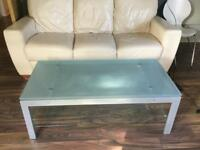 Glass table, coffee table to sell!