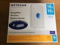 Modem Wireless Router NETGEAR RangeMax DG834PN ADSL with AC Adaptor