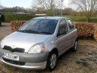TOYOTA YARIS 37000 WARRANTED MILE 1.0L T3 5DOOR 1LADY OWNER 15SERVICES HPI CLEAR EXCELLENT CONDITION