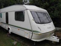 Elddis Typhoon XL Caravan 4 Birth includes Porch Awning and extras