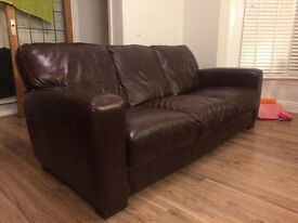 1 year old sofa dfs. 3 seater leather sofa and 1 chair