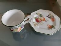 FRESH FRUIT BY JOHNSON BROTHERS Cups and Saucers