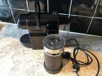 Magimix Inissia Black Coffee Machine + Aeroccino Milk Frother Black