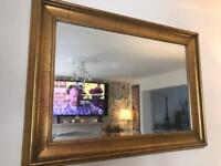 Huge vintage style gold mirror