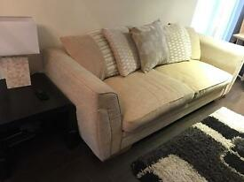 Large DFS 4 Seater Sofa in biege