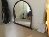 Oval topped mirror