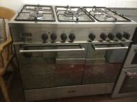 Delonghi dual fuel range cooker full stainless steel £290 can deliver