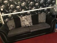 4 seater sofa and pouffe from dfs