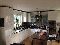 White gloss kitchen and appliances