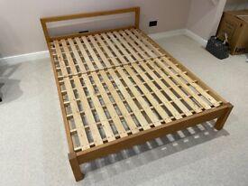 MUJI Oak Double Bed Base