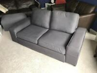 Ikea Kivik 2/3 Seater Sofa and matching Footstool