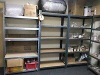 4 Units storage metal shelving, shelves,racking, for garage /warehouse/ office