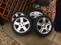 Peugeot gti alloys wheels. 307 206. 17 inch