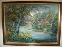 Original Oil Painting by local artist Barbara Little. Now Reduced Price!