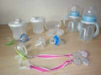 TOMMEE TIPPEE BOTTLES/BOTTLE TRAINER CUPS/POWER STORAGE/SOOTHER