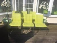Chrome framed chairs