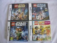 4 x Nintendo DS Lego Games Star Wars Lego Battles