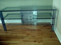 glass television stand excellent condition no scratches as new ideal for larger televisions