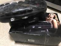 BaByliss 20 Thermo Ceramic Electric Heated Hair Rollers In Case curlers