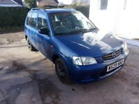 W Reg Mazda Demio 1.3 Petrol. MOT August. Starts and drives well. Spares/Repairs. Just £275ono