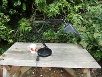 Magnifying Daylight angle-poise desk lamp, stand alone, black, for crafts, sewing, reading etc.