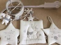 Winnie the Pooh white/ cream Baby cot mobile and room accessories