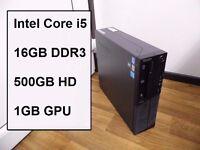 FAST Gaming Computer PC (Intel i5 3rd Gen, 16GB RAM, GT 520 1GB, 500GB HD)