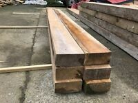 Wood Timber 6x3 Joists Treated Fence Posts 7x2 6x2 Ideal Raised Flowerbed Timber Downgrade