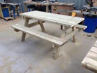 Rustic 6foot picnic table bench made from 5x2.