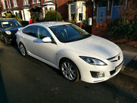2009 MAZDA 6 SPORT 2.2 PEARL WHITE 12mths MOT Black Leather