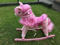 KIDS TOY PLAY ROCKING HORSE PINK