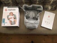 Ergobaby infant insert grey pristine condition