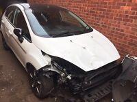 2016 66 Ford Fiesta Zetec white edition 1.25 damaged salvage