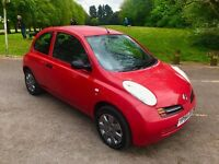 Nissan Micra 1.5 DCI DIESEL Red 3 door 2004