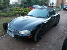MX5 mk2 *** BLACK Jasper Conran *** 2001. My own car. Looks/drives superbly well. MOT October 2018.
