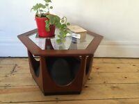 Vintage Rare G Plan Astro Hexagonal Teak Glass Coffee Table 1960s V B Wilkins