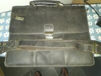 very nice laptop bag real leather brown