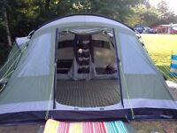 OUTWELL Montana 6 Tent, ground sheet & carpet.