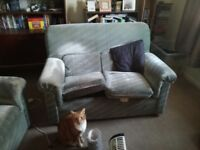 Grey 2 seater sofa. X 2 FREE