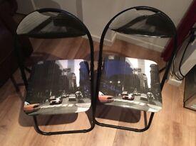 New York Pattern, Folding Chairs