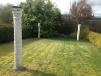 Ornate garden pillars