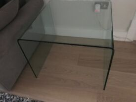 Modern Thick Glass Side Table