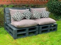 Garden pallet furniture grey newly made