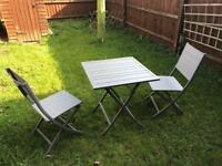 BATANG Aluminium 2 SEATER BISTRO Garden TABLE and chairs RRP £140
