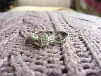 Engagement and Wedding Bridal Ring Set